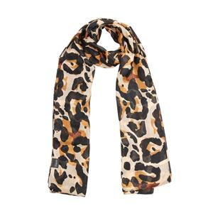 100% Polyester Destello Tabby Leopard print luxe scarf