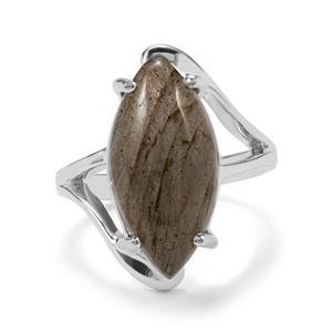 9ct Pink Flash Labradorite Sterling Silver Aryonna Ring