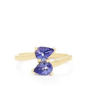 1.23ct AA Tanzanite 10K Gold Ring