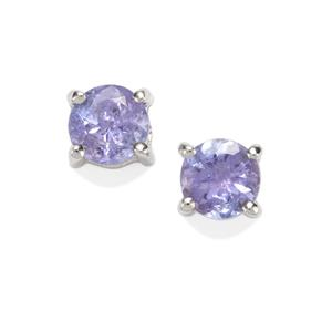 Tanzanite Earrings in Sterling Silver 1.08cts