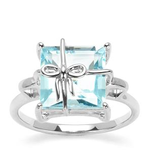 Sky Blue Topaz Ring in Sterling Silver 5.97cts