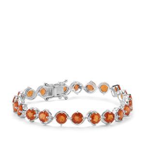 Mandarin Garnet Bracelet in Sterling Silver 27.91cts