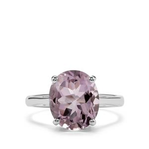 4.25ct Rose De France Amethyst Sterling Silver Ring