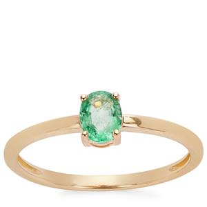 Zambian Emerald Ring in 9K Gold 0.35ct