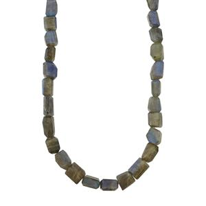Labradorite Tumbled Necklace in Sterling Silver 217cts