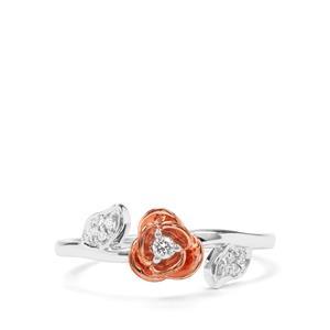 1/10ct Argyle Diamond 9K Two Tone Gold Rose Ring