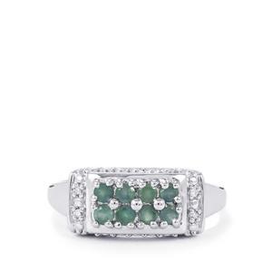 Orissa Alexandrite & Diamond Sterling Silver Ring ATGW 0.48cts