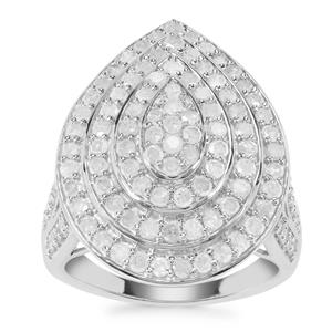 Diamond Ring in Sterling Silver 1.95cts