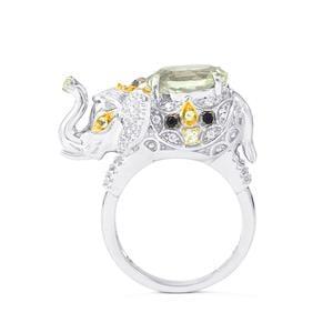 3.70ct Kaleidoscope Gemstones Sterling Silver Ring
