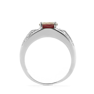 Thai Ruby Ring in Sterling Silver 1.88cts (F)