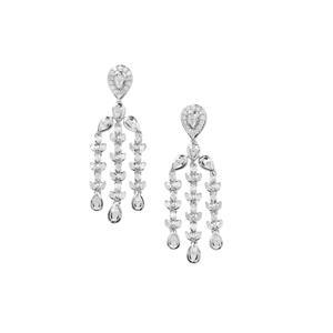 Diamond Earrings in Sterling Silver 1.03cts