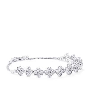 Diamond Bracelet in Sterling Silver 2cts