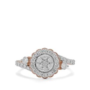 Canadian Diamond Ring in 9K Rose Gold 0.76ct