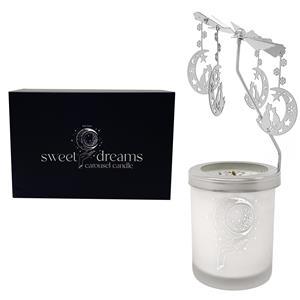 Gem Auras Sweet Dreams Carousel Candle with a Lavender Fragrance & Amethyst Gemstones ATGW 30cts