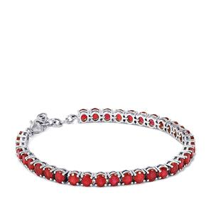 Madagascan Ruby Bracelet in Sterling Silver 17.58cts (F)