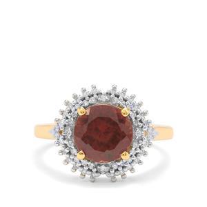 Bekily Colour Change Garnet & Diamond 18K Gold Lorique Ring MTGW 3.25cts