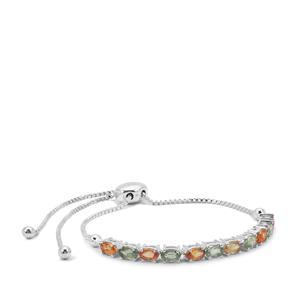 Songea Rainbow Sapphire Slider Bracelet in Sterling Silver 3.62cts