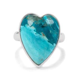 13.50ct Shattuckite Sterling Silver Aryonna Heart Ring