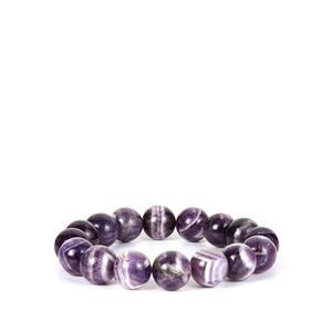 Banded Amethyst Stretchable Bracelet  290cts