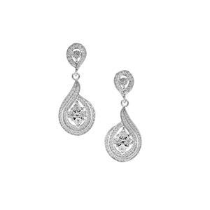 Diamond Earrings in Sterling Silver 0.05ct