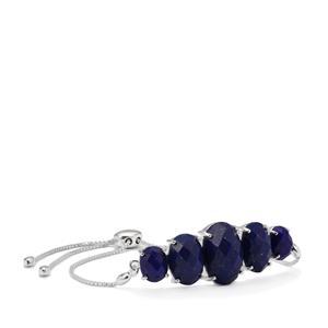 Sar-i-Sang Lapis Lazuli Slider Bracelet in Sterling Silver 21.17cts