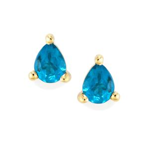 Neon Apatite Earrings in 9K Gold 0.60ct