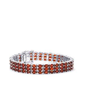 Mozambique Garnet Bracelet in Sterling Silver 31.42cts