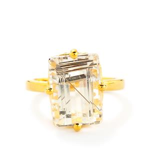 8.64ct Bahia Rutilite Gold Plated Sterling Silver Ring