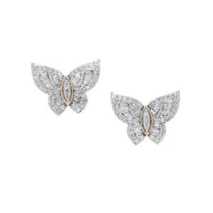 1.11ct Diamond 9K Gold Butterfly Earrings