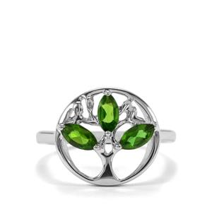 0.66ct Chrome Diopside Sterling Silver Ring