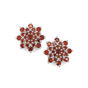 Anthill Garnet Earrings in Sterling Silver 1.24cts