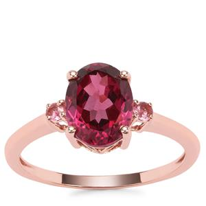 Umba River Ring with Pink Tourmaline in 9K Rose Gold 2.34cts
