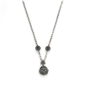 Natural Marcasite Sterling Silver Jewels of Valais Necklace ATGW 0.08ct