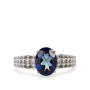 2.09ct Mystic Royal Blue Topaz Sterling Silver Ring