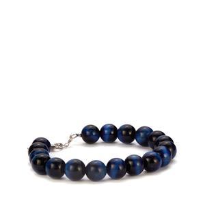 Blue Tiger's Eye Bracelet in Sterling Silver 117.30cts