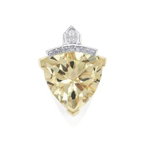 Serenite Pendant with Diamond in 9K Gold 3cts