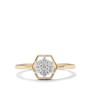 Certified Argyle Diamond Ring in 9K Gold 0.21ct