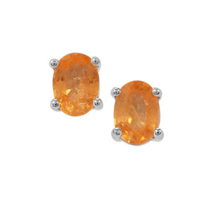 2.26ct Mandarin Garnet Sterling Silver Earrings