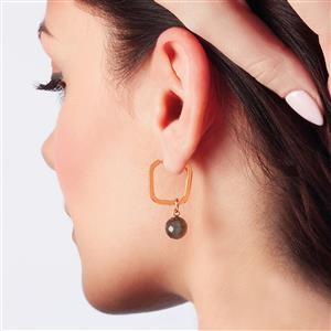 Molte Mini Square Hoop Earrings in Gold Plated Silver