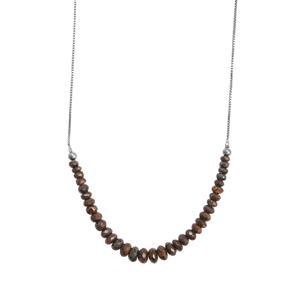Boulder Opal Graduated Bead Slider Necklace in Sterling Silver