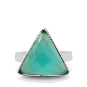 7.06ct Aqua Chalcedony Sterling Silver Aryonna Ring