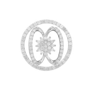 Diamond Set of 2 Pendant in Sterling Silver 1cts