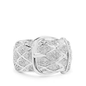 Diamond Ring in Sterling Silver 0.76ct