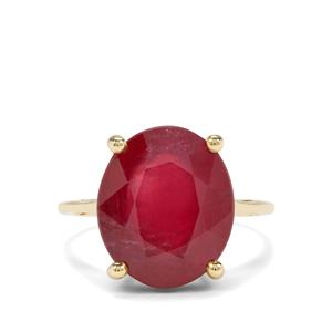 8.32ct Malagasy Ruby 9K Gold Ring (F)