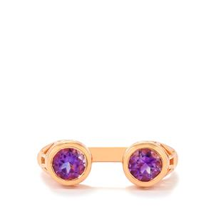 Moroccan Amethyst Ring in Rose Gold Vermeil 0.89ct