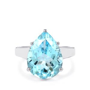 9.80ct Sky Blue Topaz Sterling Silver Ring