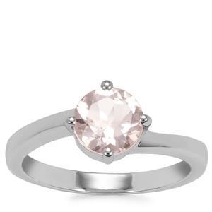 Alto Ligonha Morganite Ring in Sterling Silver 1.12cts