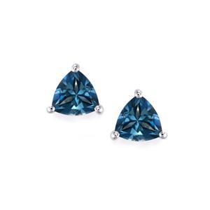 1.77ct Santa Maria Topaz Sterling Silver Earrings