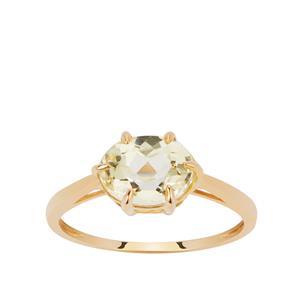 Pistachio Kunzite Ring in 9K Gold 2.39cts
