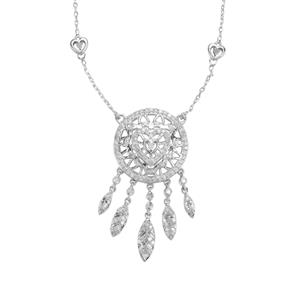 Diamond Necklace in Sterling Silver 1ct